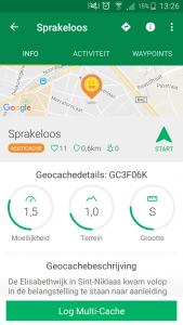 Geocaching app cachedetails