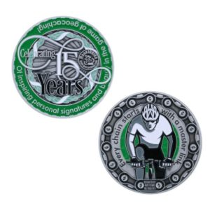 geocoin 15 years geocoins