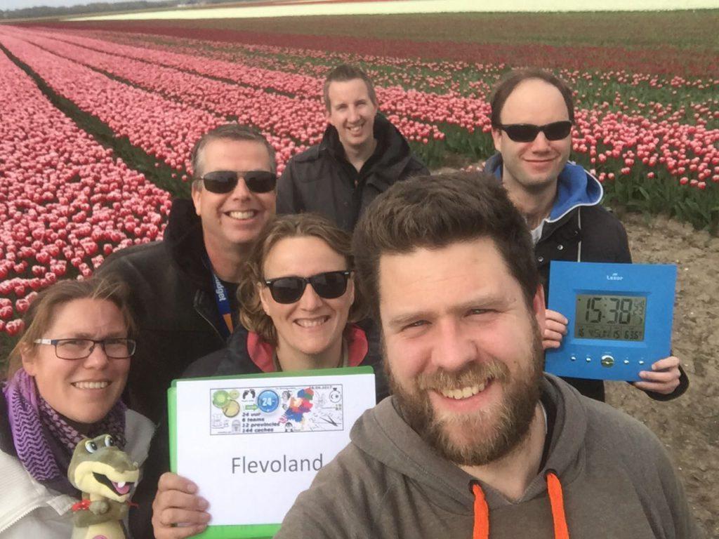 Challenge 12 caches 12 provincies 24 uur - Flevoland