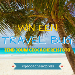 Win een Geocaching Travel bug #geocachenopreis