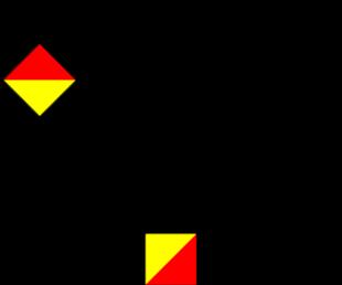 Semafooralfabet letter C cijfer 3