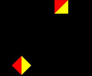 Semafooralfabet letter K cijfer 0