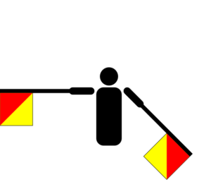 Semafooralfabet letter S