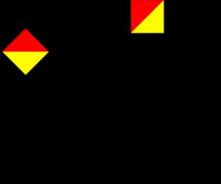 Semafooralfabet letter T