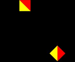 Semafooralfabet letter V