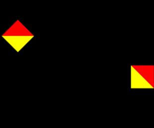 Semafooralfabet letter Y
