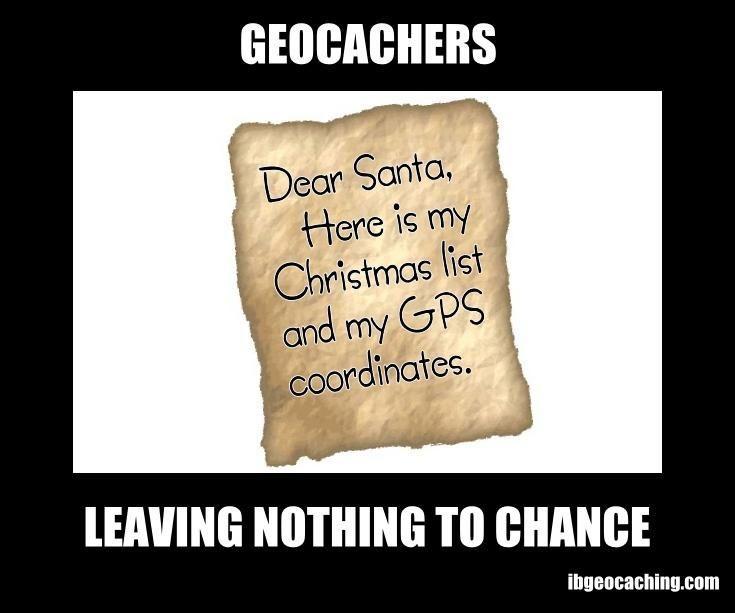 Geocaching Memes - Kerstman
