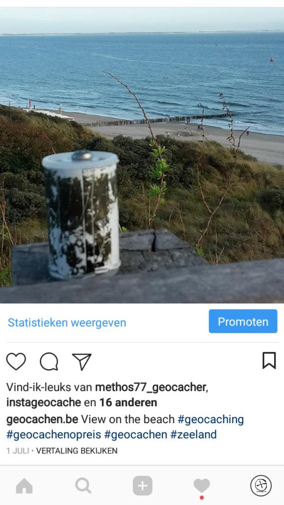 Geocaching Instagram filmrolpotje