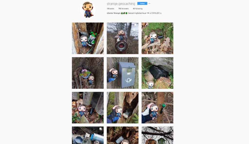 Instagram strange.geocaching