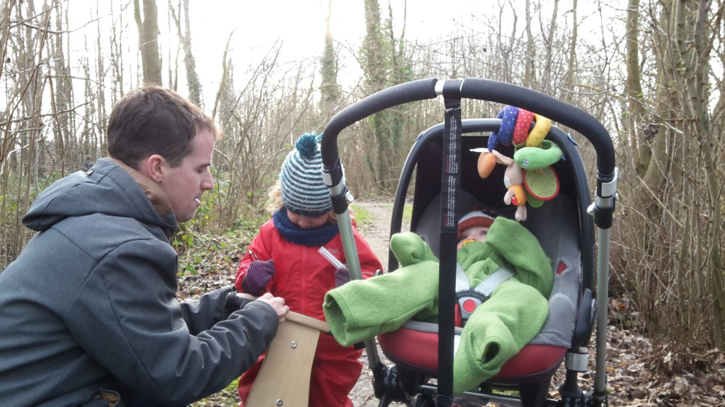 Geocaching baby en kinderen