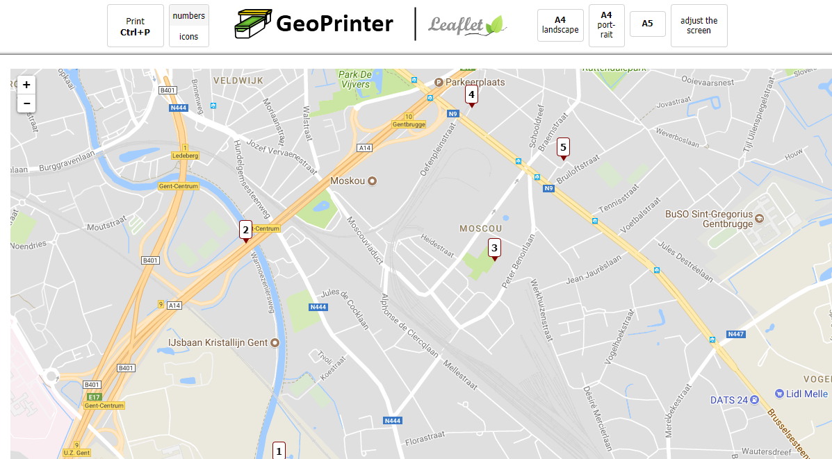 GeoPrinter show on maps