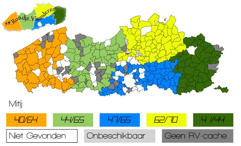 Rondje Vlaanderen - kaartoverzicht Mitij