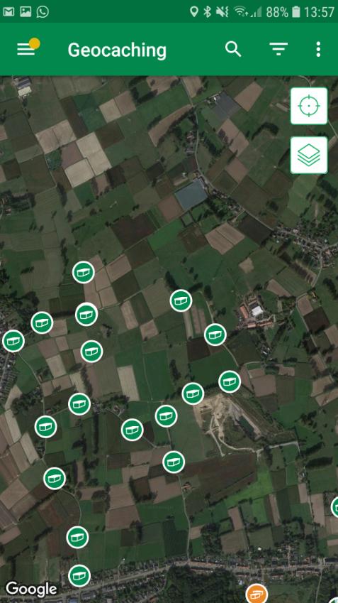 Geocaching app - zoeken