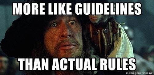 Meer richtlijnen dan regels