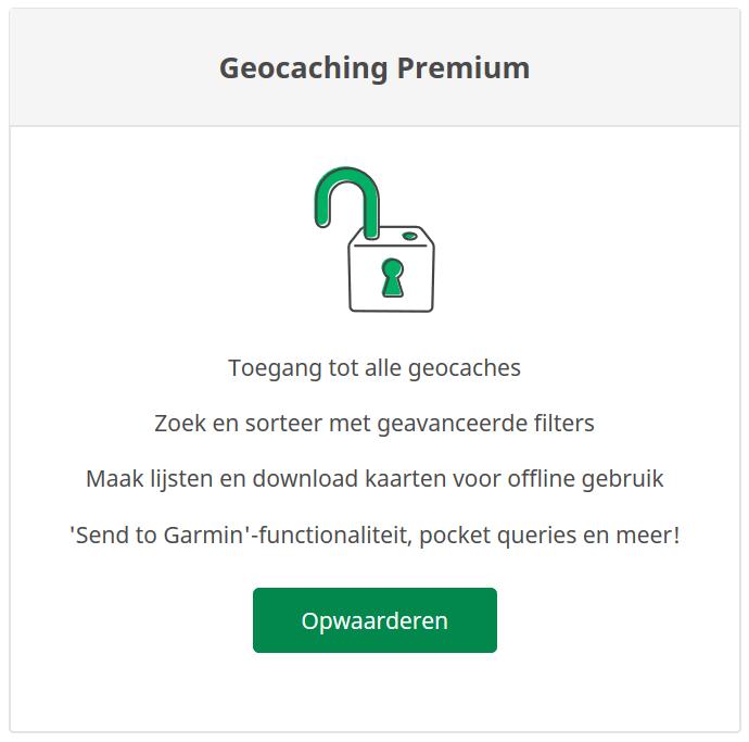 Geocaching Premium melding