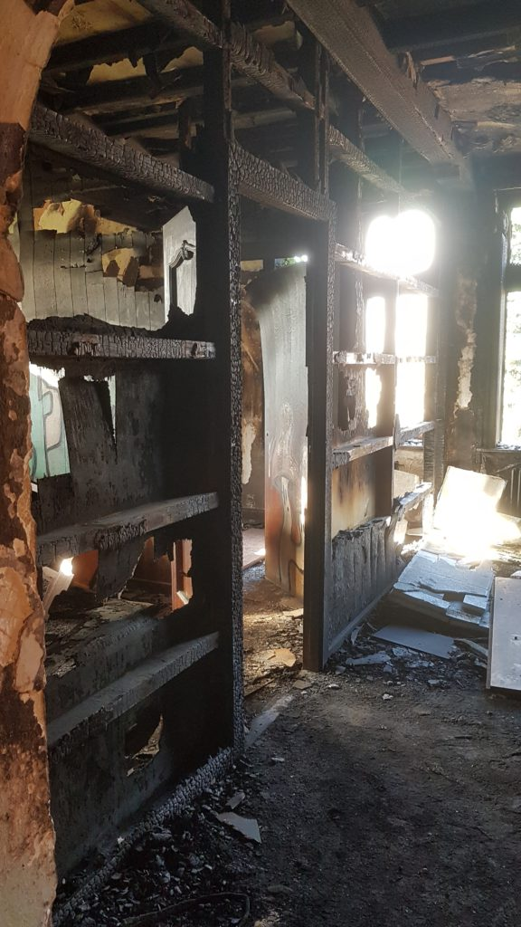 Lost Place Huis van KiesdePijn - afgebrand