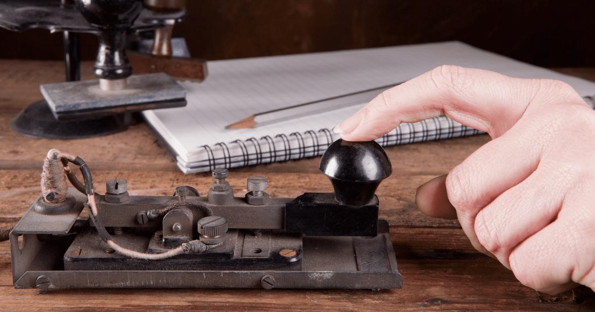 Morsecode telegraaf